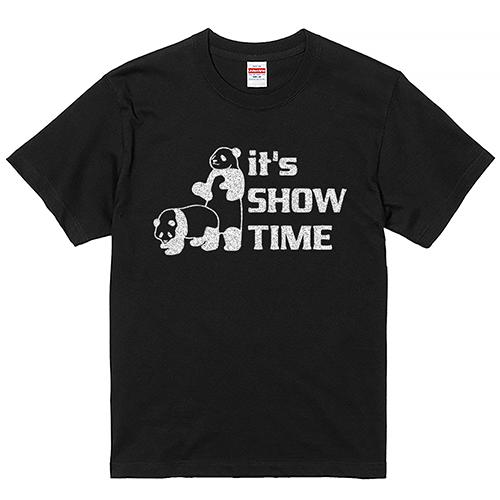 【YouTubelive記念SALE】大きいサイズ メンズ Tシャツ 半袖 GLITTER ショータイムパンダ / L 2L 3L 4L 5L 6L 7L 翌日出荷可