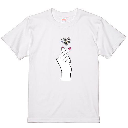 【YouTubelive記念SALE】大きいサイズ メンズ Tシャツ 半袖  Finger Heart / 5L 7L 翌日出荷可