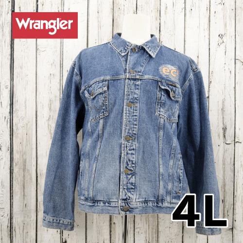 【美品】 wrangler デニム ジャケット 4L USED 古着