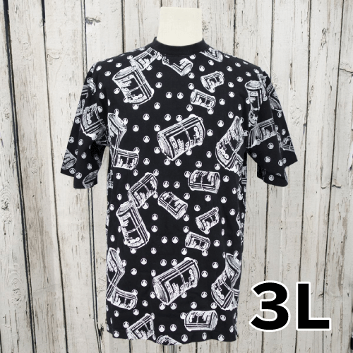 【美品】 総柄 Tシャツ 3L USED 古着