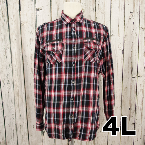 【美品】splendid satisfaction チェックシャツ 4L USED 古着
