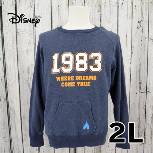 Disney(ディズニー) 前ポケット トレーナー 2L USED 古着