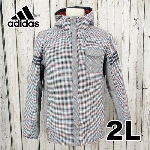 【美品】adidas フード付き ジャケット 2L USED 古着