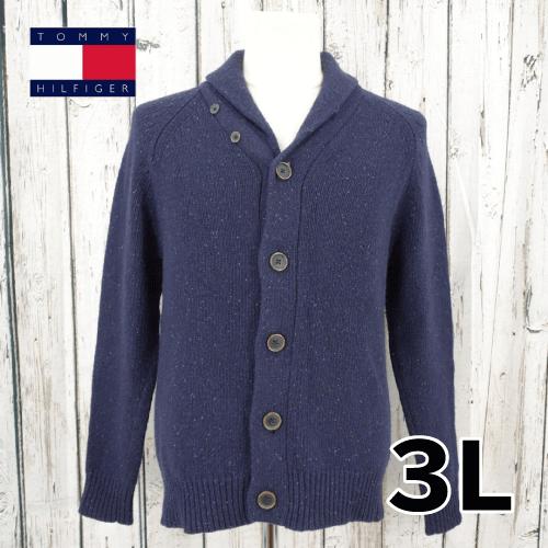 【美品】 TOMMY HILFIGER 襟付き セーター 3L USED 古着