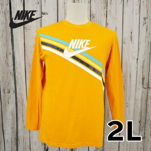 【美品】 NIKE(ナイキ) ロゴプリント ロングTシャツ 2L USED 古着