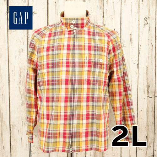 【美品】 GAP(ギャップ) チェック ジップアップ ジャケット 2L USED