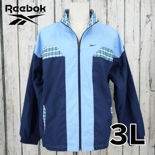 【美品】 Reebok チェック ジャケット 3L USED