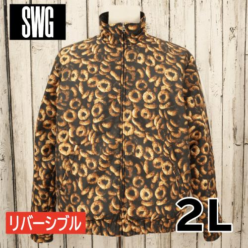 【美品】 SWAGGER リバーシブル ダウンジャケット 2L USED