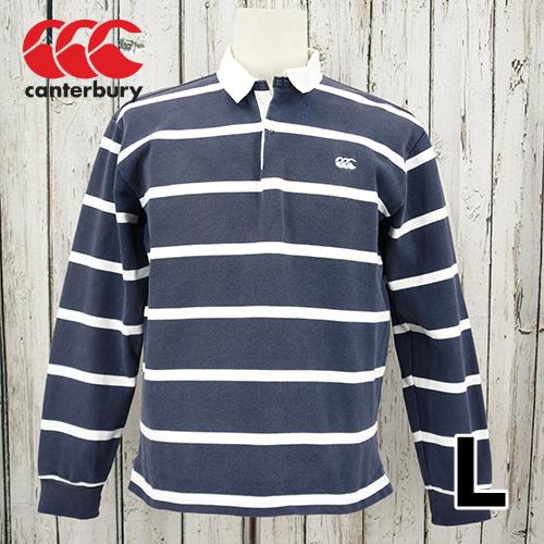 CANTERBURY(カンタベリー) 長袖 ボーダー ポロシャツ ラガーシャツ L USED