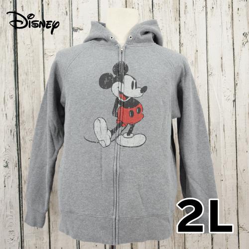 【美品】 Disney(ディズニー) 耳付き プルオーバー パーカー 2L USED