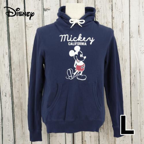 【美品】 Disney(ディズニー) プルオーバー パーカー L USED