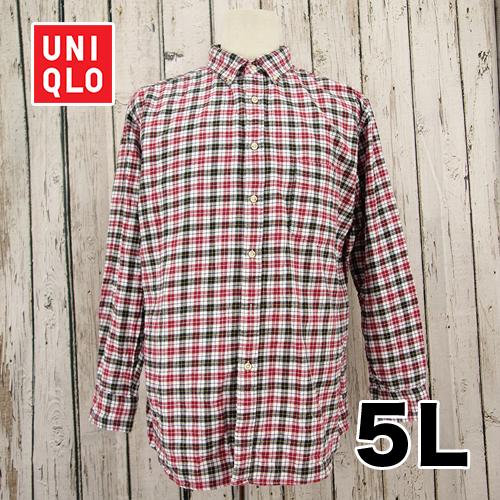 【美品】UNIQLO(ユニクロ) チェック シャツ 5L USED