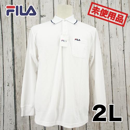 【新古品/未使用】FILA 刺繍 長袖 ポロシャツ 2L USED