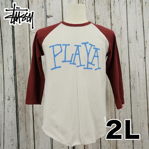【美品】 Stussy(ステューシー) 七分丈 Tシャツ 2L USED