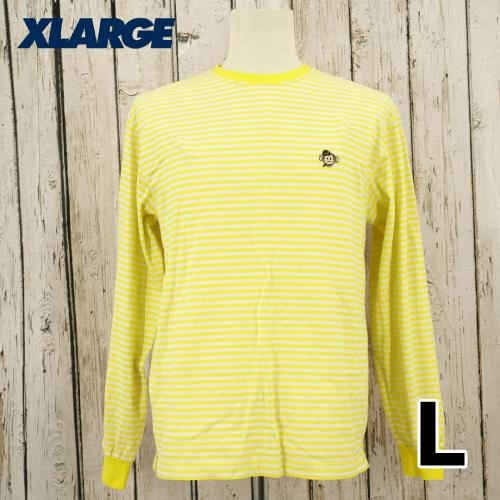 【美品】 X-LARGE(エクストララージ) 刺繍 長袖 Tシャツ L USED