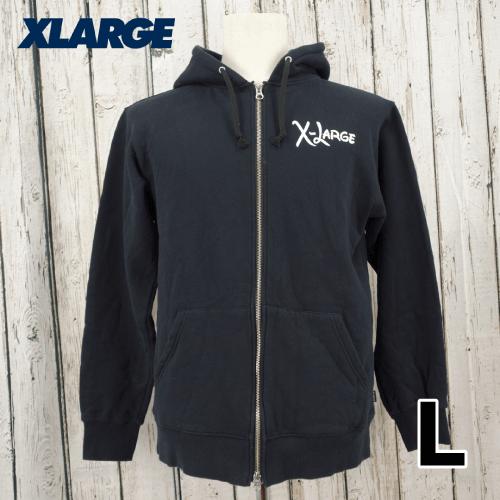 【美品】 X-LARGE(エクストララージ) ミッキー バックプリント ジップアップ パーカー L USED
