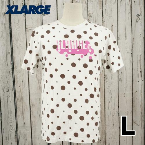 X-LARGE(エクストララージ) ドット ビッグロゴ 半袖 Tシャツ L USED