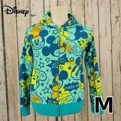 【美品】 Disney(ディズニー) ミッキー 総柄 プルオーバーパーカー M USED