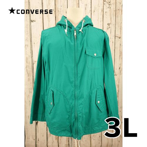 【美品】 CONVERSE ライトフードジャケット 3L USED 古着