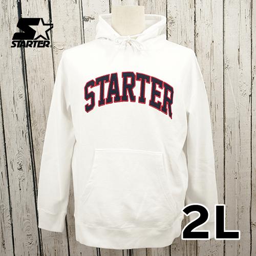 【美品】 STARTER 刺繍 プルオーバー パーカー 2L USED