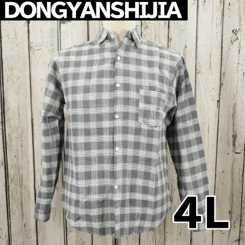 【美品】 DONGYANSHIJIA 長袖 チェック シャツ 4L USED