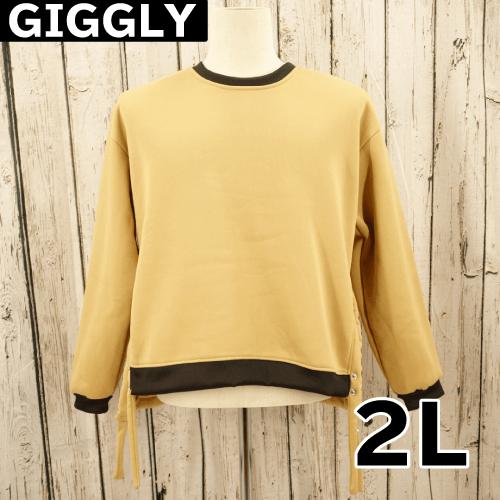 【美品】 GIGGLY スリット トレーナー  2L USED