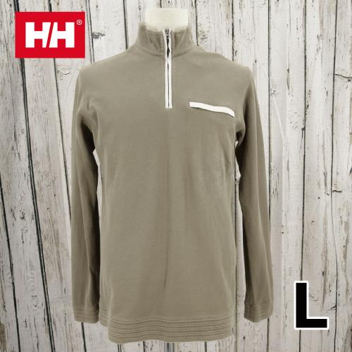 【美品】 HELLY HANSEN(ヘリーハンセン) ハーフジップ Tシャツ L USED