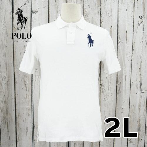 RALPH LAUREN(ラルフローレン) 刺繍ロゴ 半袖 ポロシャツ 2L USED