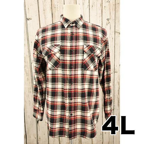 【美品】ROUSHATTE ワーク チェックシャツ 4L USED 古着
