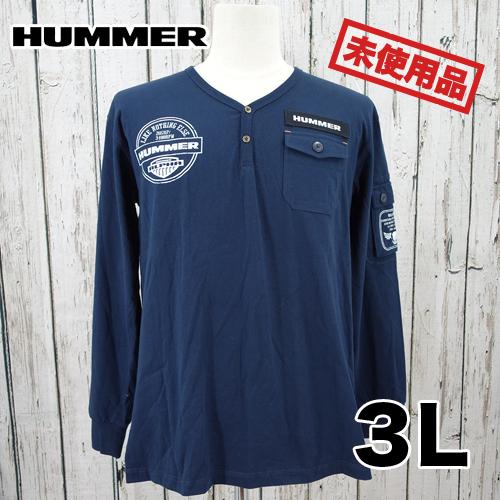 【新古品/未使用】HUMMER ポケット ロング Tシャツ 3L USED 古着