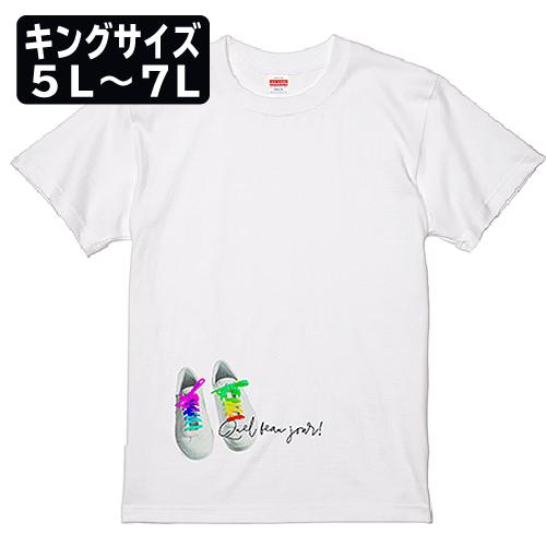 キングサイズ 大きいサイズ メンズ Tシャツ 半袖 カラフルシューズ / 5L 6L 7L