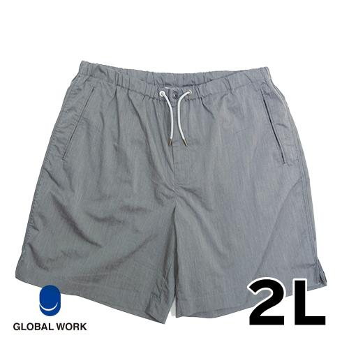 【美品】2L GLOBAL WORK ハーフパンツ グレー