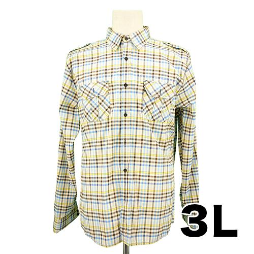 【美品】NORETREAT 長袖シャツ 3L USED 古着