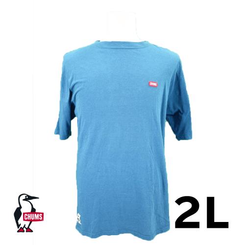 CHUMS(チャムス) ワンポイントロゴ 半袖Tシャツ 2L USED 古着