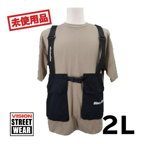 【新古品/未使用】vision street 半袖Tシャツ ポケット 2L USED 古着