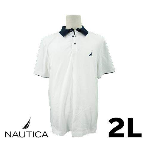 【美品】NAUTICA 半袖ポロシャツ 2L USED 古着