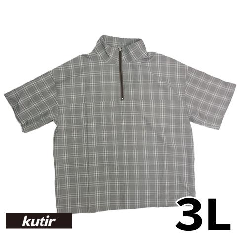 【美品】3L kutir 半袖プルオーバーシャツ