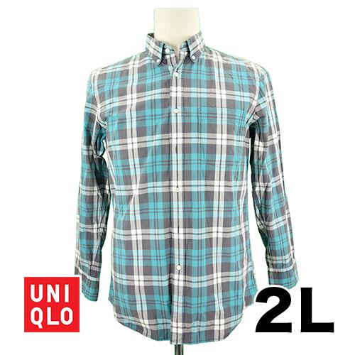 【美品】UNIQLO(ユニクロ) 長袖シャツ 2L USED 古着