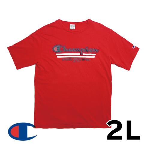 チャンピオン(champion) 半袖 Tシャツ レッド 2L