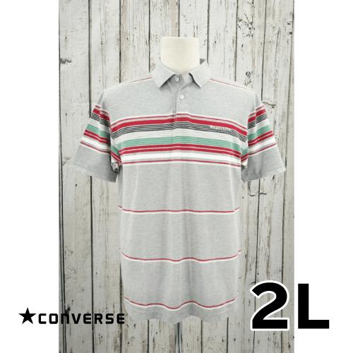 【美品】CONVERSE(コンバース) 半袖ポロシャツ 2L USED 古着