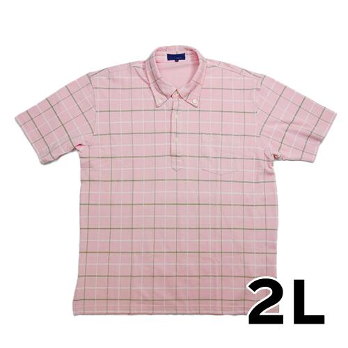 CITY MIND 半袖 ポロシャツ ピンク 2L