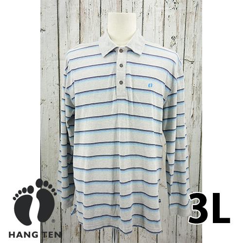 【美品】HANG TEN 長袖 ポロシャツ 3L USED 古着