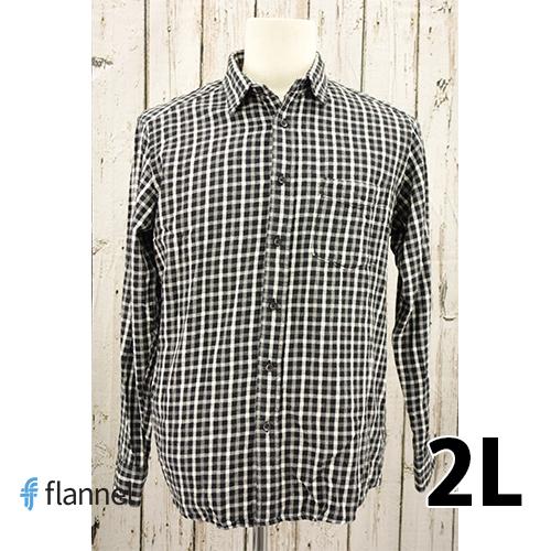 【美品】FLANNEL 長袖 シャツ 2L USED 古着