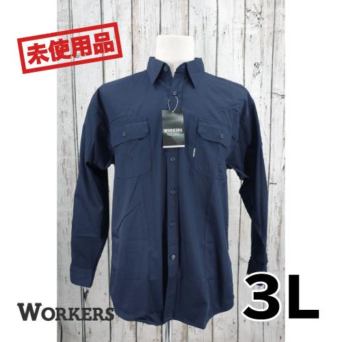 【新古品/未使用】WORKERS 長袖シャツ 3L USED 古着