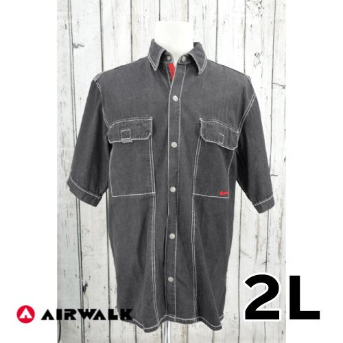 【美品】air walk 半袖 デニムシャツ 2L USED 古着