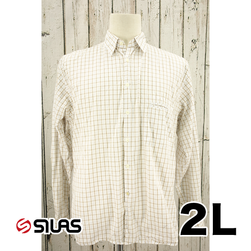 SILAS 長袖 チェック シャツ 2L USED 古着
