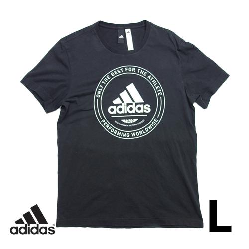 アディダス(adidas) 半袖Tシャツ L ビッグロゴ USED 古着