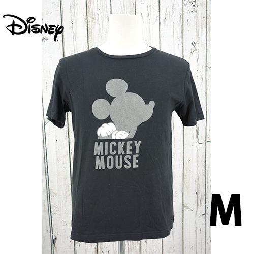 Disney(ディズニー) ミッキー シャドウ シルエット 半袖Tシャツ M USED 古着