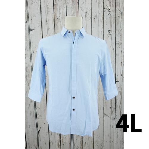 7分丈 コットンシャツ 4L USED 古着