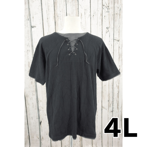 MODERM レイヤード風 半袖 Tシャツ 4L USED 古着